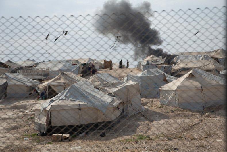 hol refugee camp syria fire