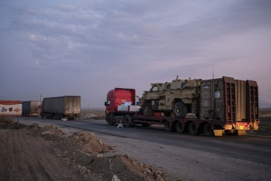 Iraq, Syria, convoy, Kurds, retreat