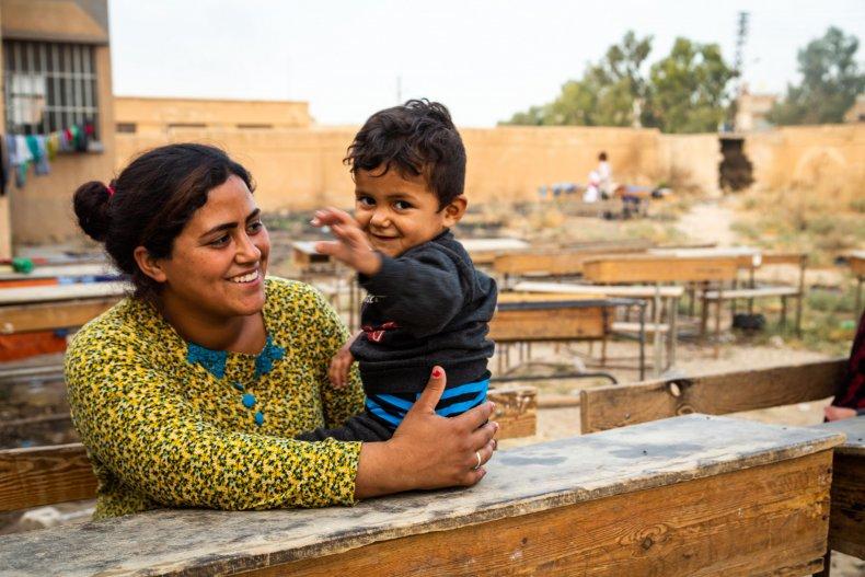 syria war young boy school