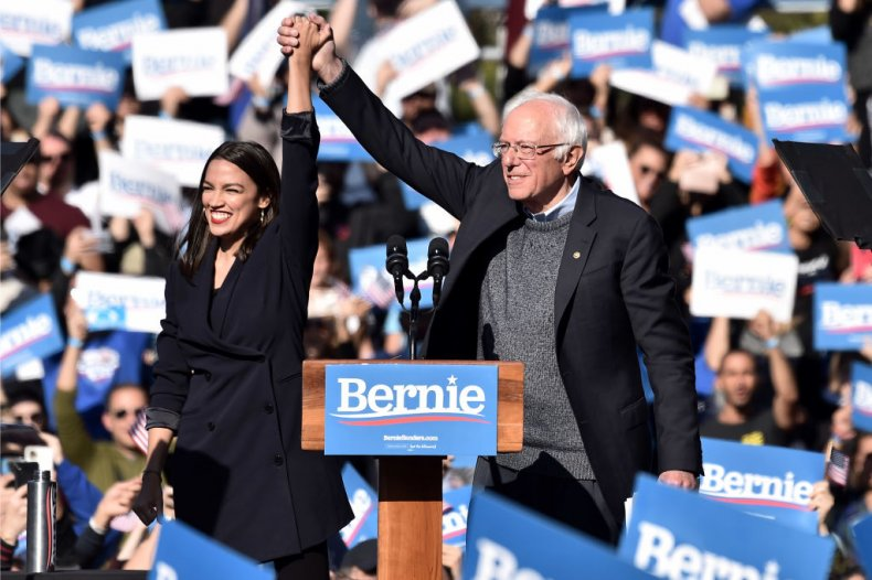 Alexandria Ocasio-Cortez Endorses Bernie Sanders Rally