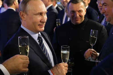 Vladimir Putin and Vladimir Solovyov