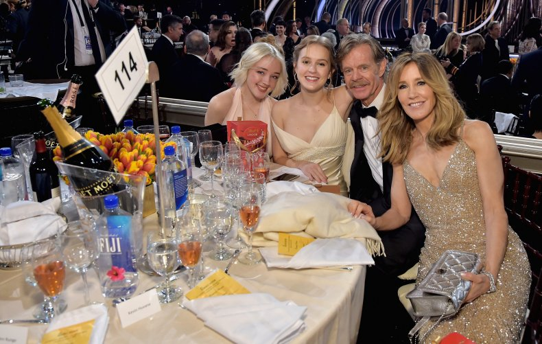 Felicity Huffman and family