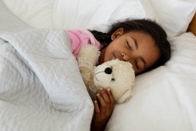 sleep, bed, child, girl, stock, getty,