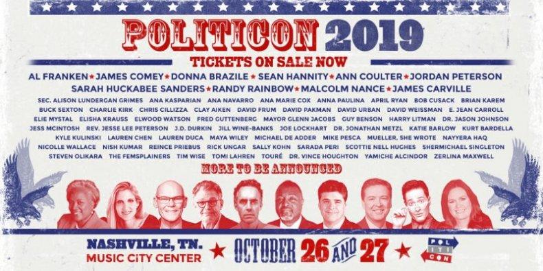Politicon Lineup 2019