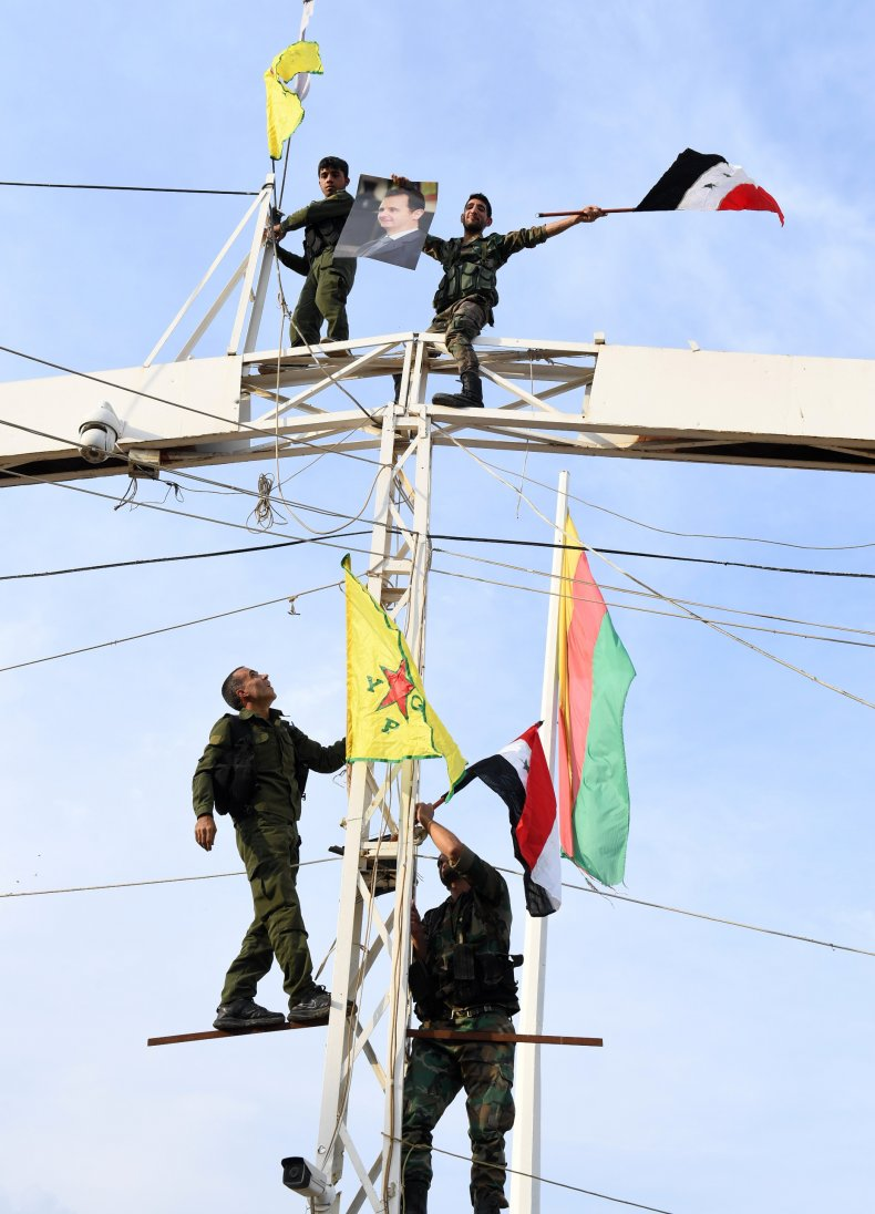 syria war military kurds government flags