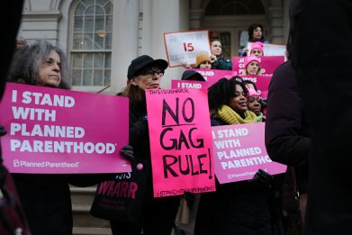 trump administration Title X gag rule funding
