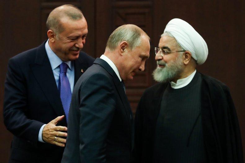 turkey erdogan russia putin iran rouhani syria