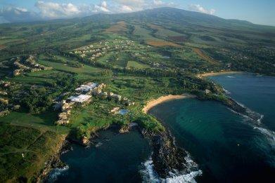 Aerial View of Maui's Kapalua Coast