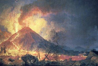 Mt. Vesuvius eruption