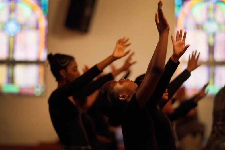 Children Dancing in Church