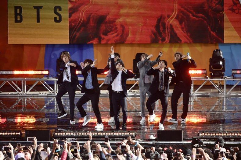 BTS performance NYC