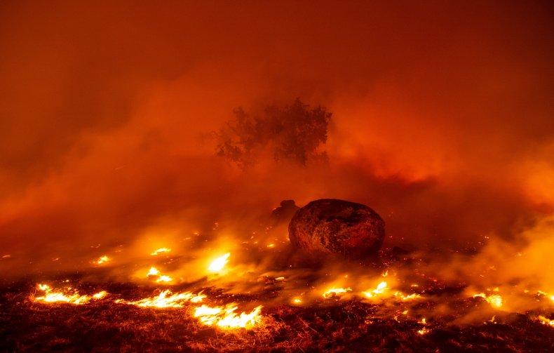 Kincade Fire in Sonoma California October 2019