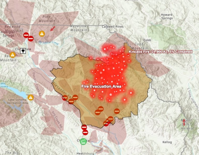 kincade fire evacuation map sonoma county