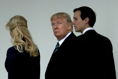 Pres. trump, ivanka and jared