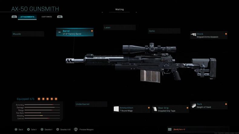 modern warfare class seup ax50 sniper
