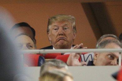 Donald Trump at World Series 2019