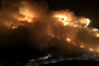 getty fire evacuation photo getty center