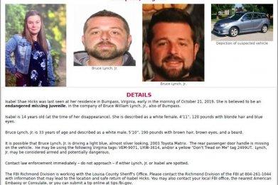 Amber Alert Issued for Isabel Hicks