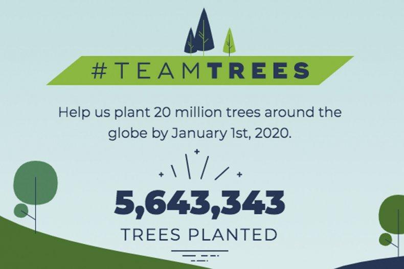 team trees mr beast plant arbor day