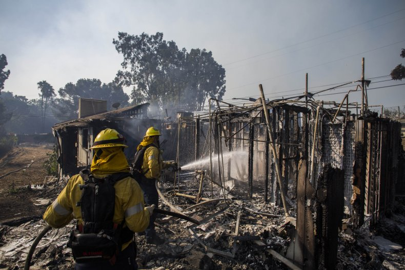getty fire homes destroyed update california
