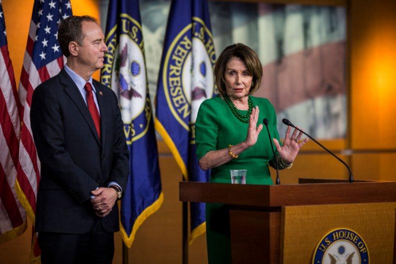 Adam Schiff and Nancy Pelosi