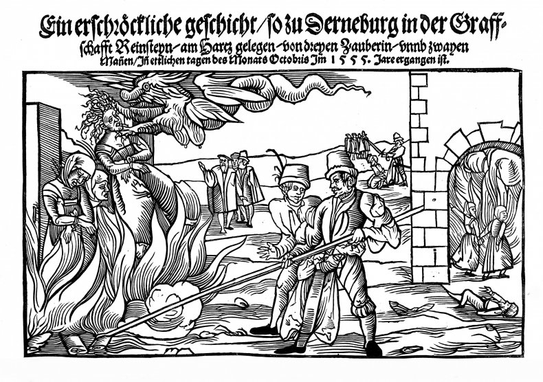 Burning of Three Witches 1555