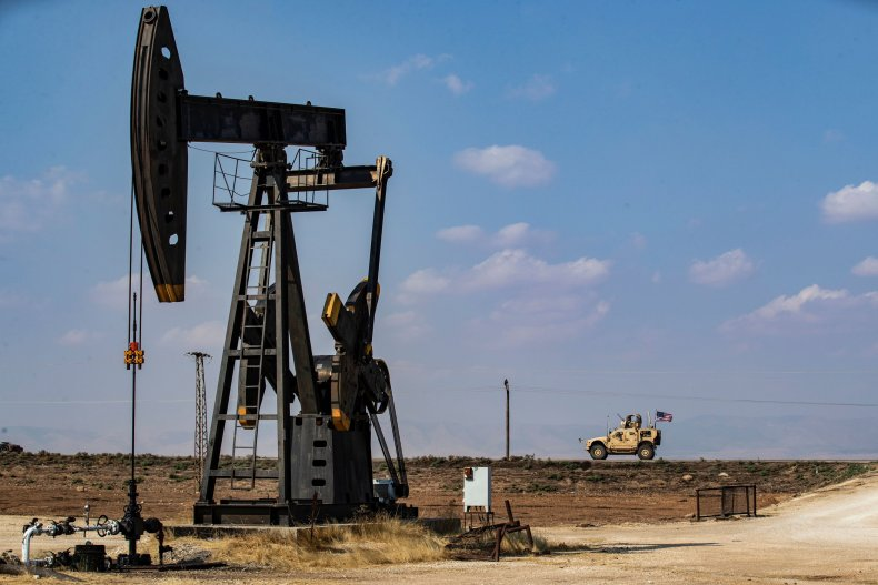 syria oil field us military vehicle