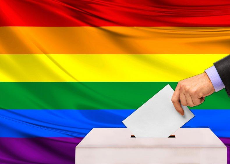 rainbow flag ballot box
