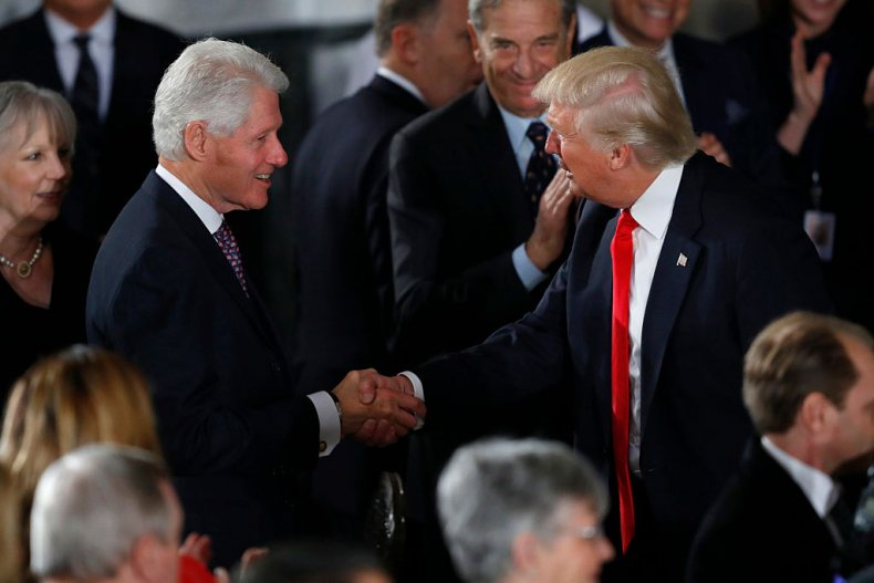 Bill Clinton and Donald Trump