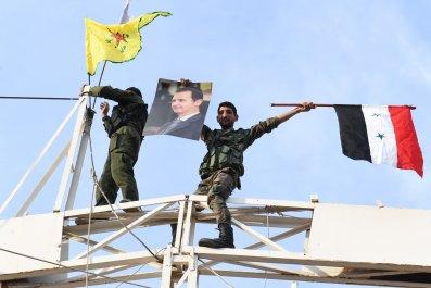 syria military kurds ypg flags