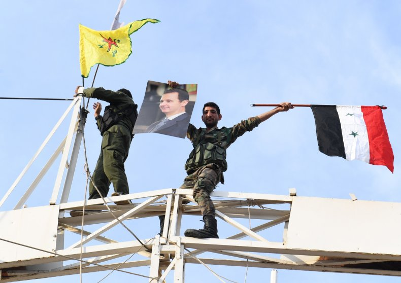 syria military kurds ypg flags