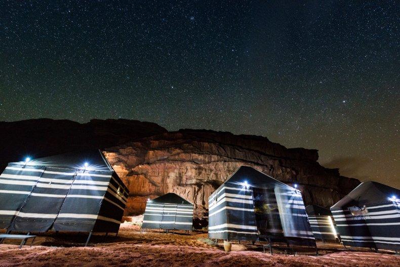 Tents in Wadi Rum Jordan
