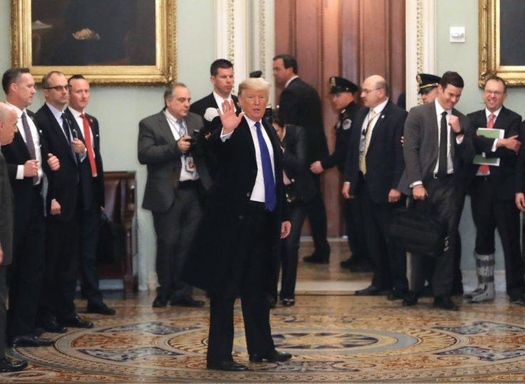 Trump With GOP Senators