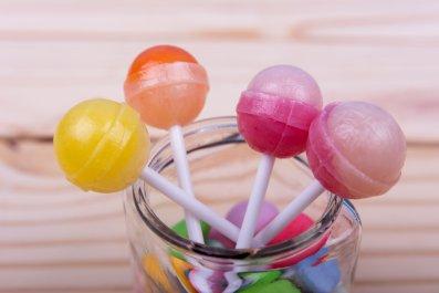 Lollipops in a jar