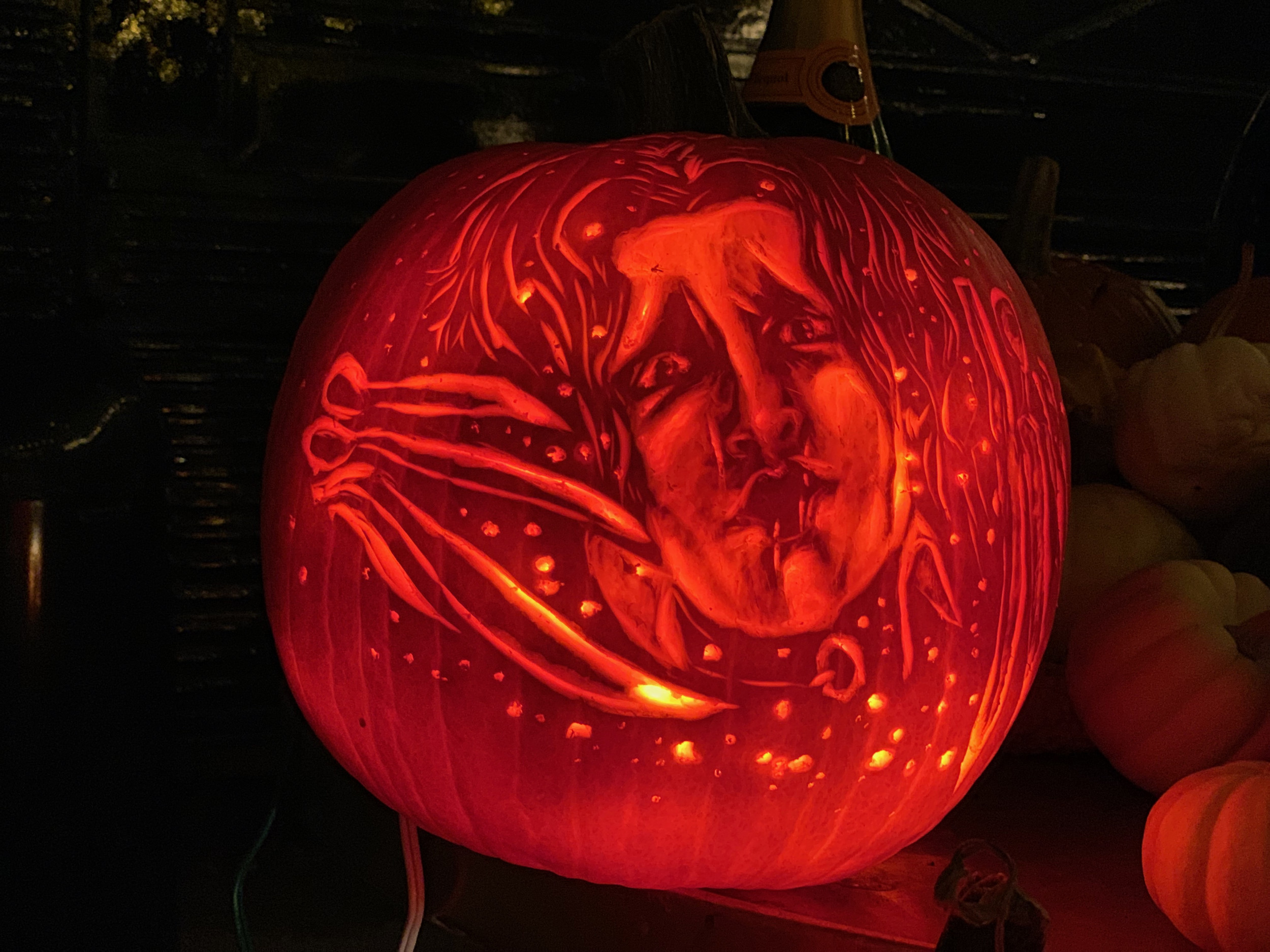 Brent Pumpkins Carves Edward Scissorhands