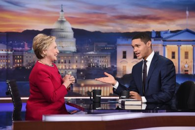 Trevor Noah and Hillary Clinton