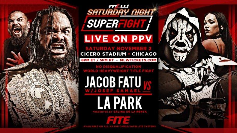 mlw saturday night superfight fatu vs park