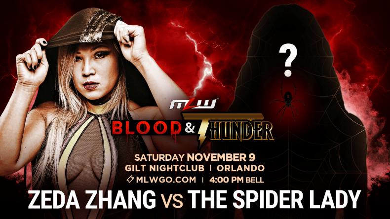 mlw zeda zhang vs spider lady