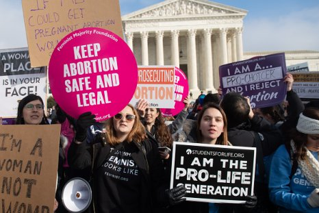 abortion activists outside supreme court challenge roe