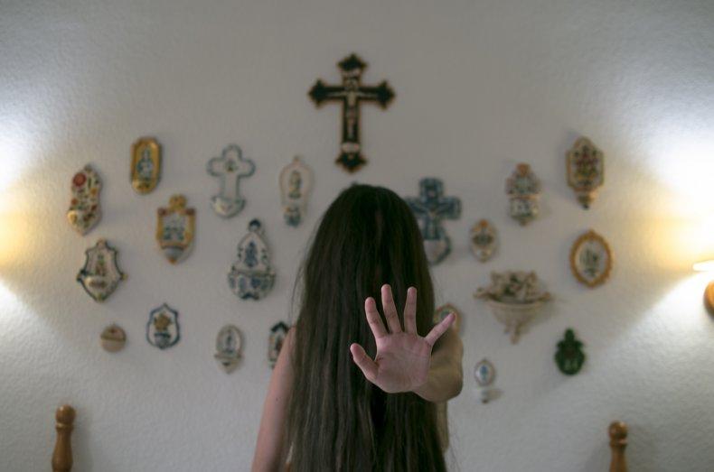 exorcism stock photo