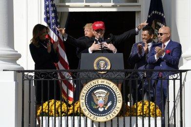 Washington Nationals honored at White House
