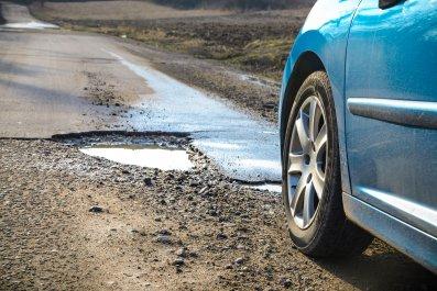 potholes, infrastructure, public works