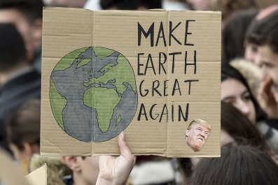 climate change protest, donald trump, getty