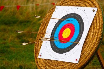 archery, bulls eye, failure, success, stock, getty