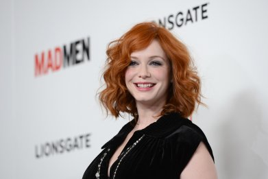 Christina Hendricks Mad Men premiere March 2013