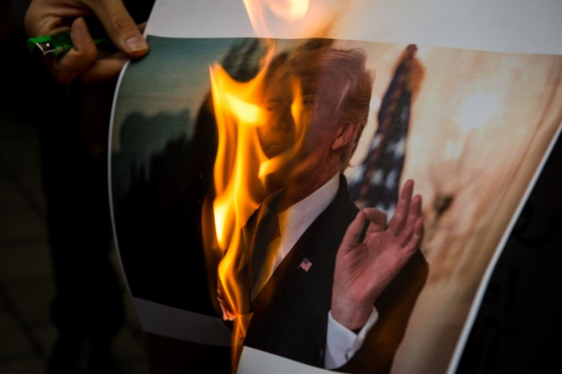 Donald Trump, Iran, Tehran, protest, nuclear deal