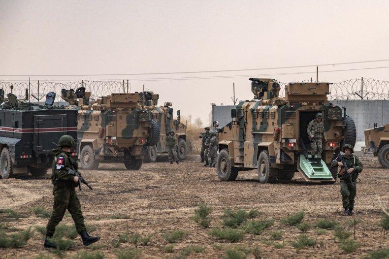 russia turkey military north syria patrol