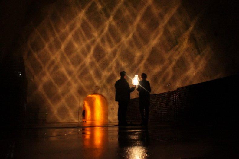 Ruinart art exhibit light shadows