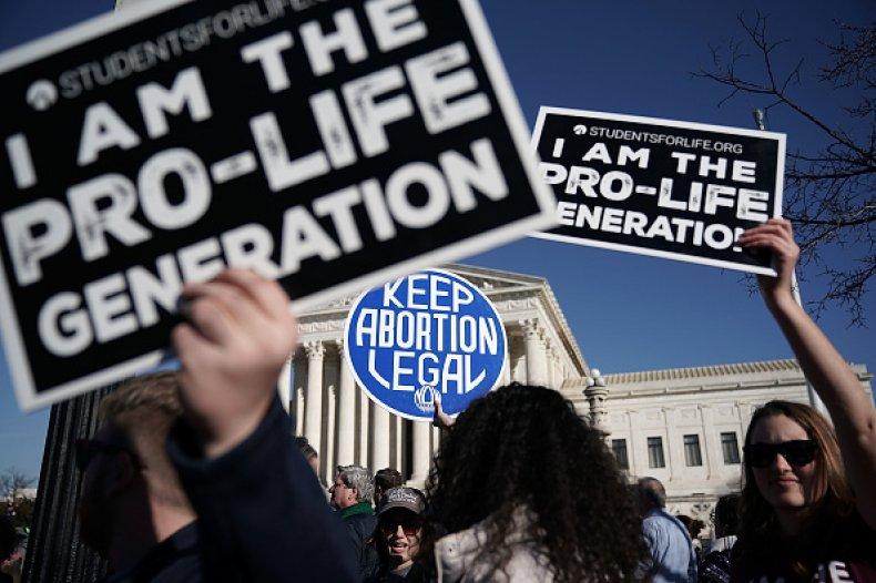 abortion activists roe v. wade anniversary DC