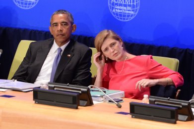 U.S. President Barack Obama and Samantha Power